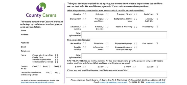 County Carers Questionnaire