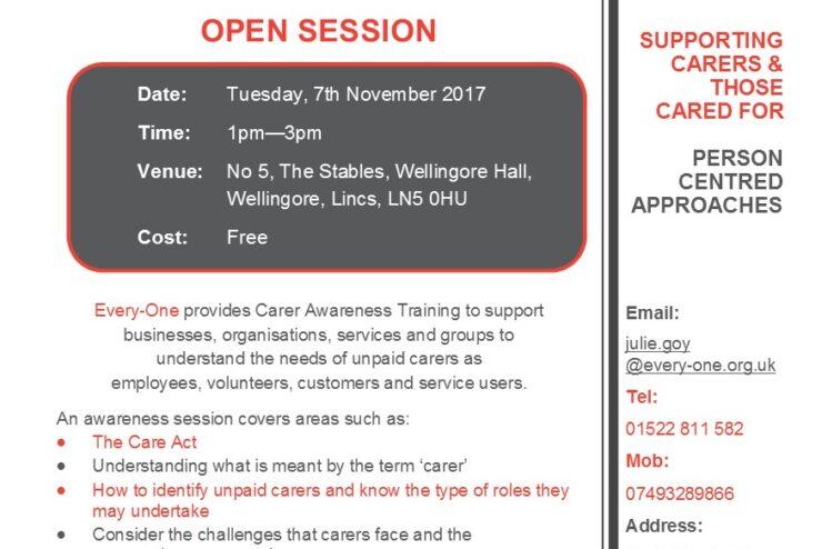 Open Carer Awareness Training Session