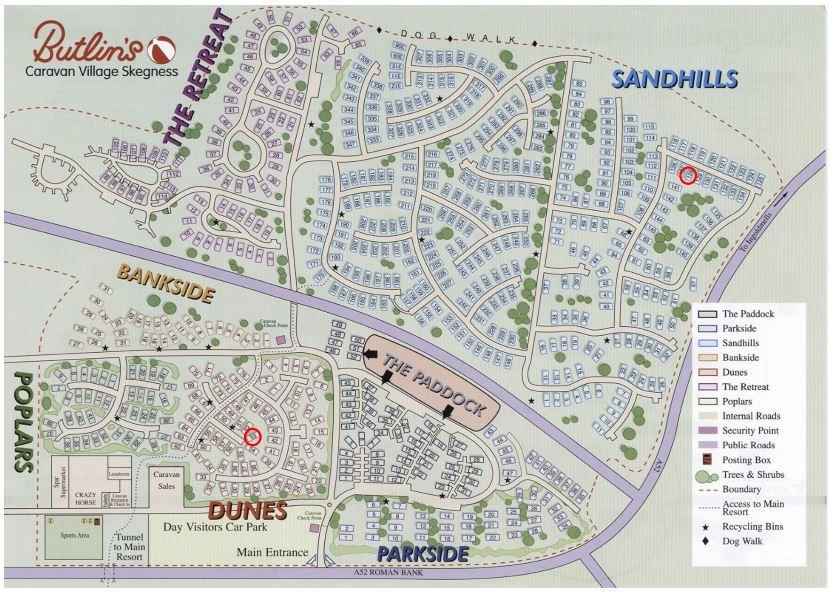 Short Break Caravan: Butlins Caravan Village Map