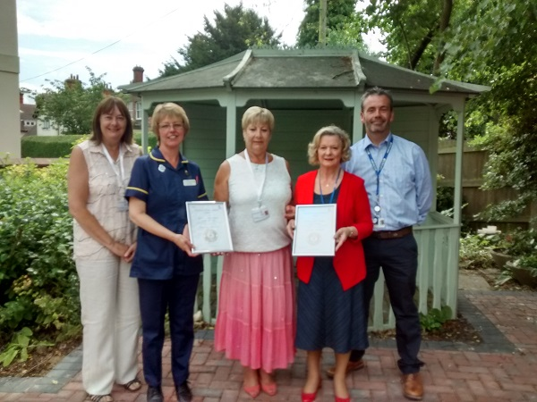 St Barnabas services receive Carers Quality Award