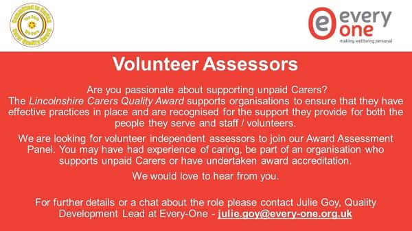 Advert: Volunteer Assessors